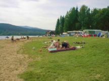 vlastní pláž u kempu