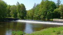 jez na řece Blanici cca 50m od areálu