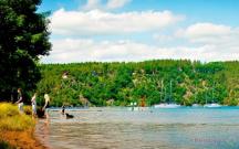 přehrada Hracholusky s pláží