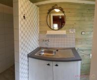 Srubové chaty - koupelna